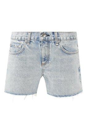 Женские джинсовые шорты RAG&BONE синего цвета, арт. W1949K165CLM   Фото 1