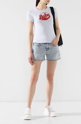 Женские джинсовые шорты RAG&BONE синего цвета, арт. W1949K165CLM   Фото 2