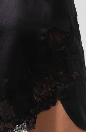 Женская шелковая сорочка COTTON CLUB черного цвета, арт. 3VB   Фото 5 (Материал внешний: Шелк; Длина Ж (юбки, платья, шорты): Мини; Рукава: Короткие; Статус проверки: Проверено, Проверена категория)