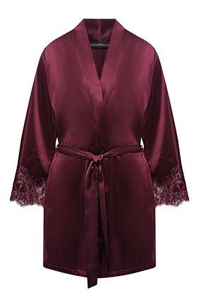 Женский шелковый халат COTTON CLUB бордового цвета, арт. 6VB | Фото 1