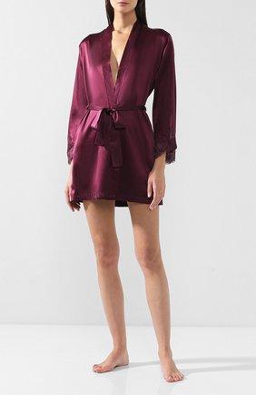 Женский шелковый халат COTTON CLUB бордового цвета, арт. 6VB | Фото 2
