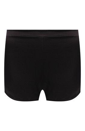 Женские шелковые шорты COTTON CLUB черного цвета, арт. 6ZM | Фото 1