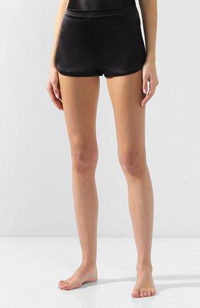 Женские шелковые шорты COTTON CLUB черного цвета, арт. 6ZM | Фото 3 (Материал внешний: Шелк; Длина Ж (юбки, платья, шорты): Мини)