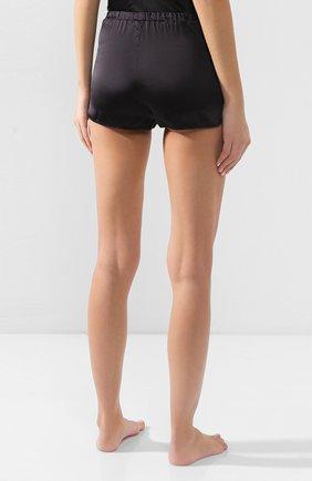 Женские шелковые шорты COTTON CLUB черного цвета, арт. 6ZM | Фото 4 (Материал внешний: Шелк; Длина Ж (юбки, платья, шорты): Мини)