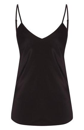 Женская шелковый топ COTTON CLUB черного цвета, арт. 7ZM | Фото 1