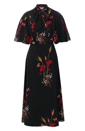Шелковое платье-миди   Фото №1