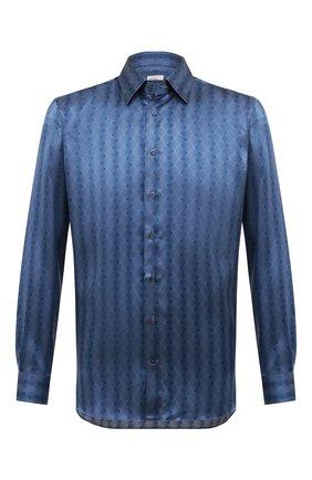 Мужская шелковая сорочка ZILLI синего цвета, арт. MFR-27001-MERCU/RZ01 | Фото 1