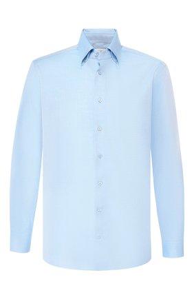Мужская хлопковая рубашка ZILLI голубого цвета, арт. MFR-01076-MERCU/RZ01 | Фото 1