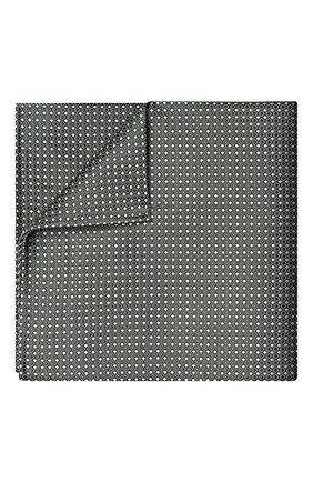 Мужской шелковый платок GIORGIO ARMANI зеленого цвета, арт. 360023/9P931 | Фото 1