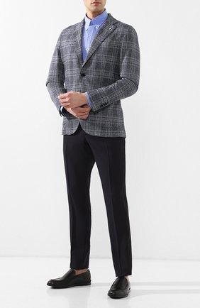 Мужские кожаные лоферы TOD'S черного цвета, арт. XXM07B00I70D90 | Фото 2
