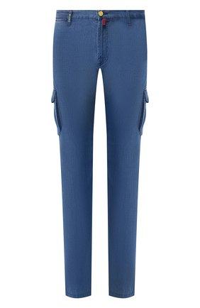 Мужские джинсы прямого кроя KITON синего цвета, арт. UFPPCA/J07R74 | Фото 1