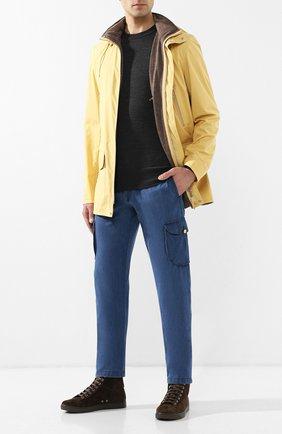 Мужские джинсы прямого кроя KITON синего цвета, арт. UFPPCA/J07R74 | Фото 2