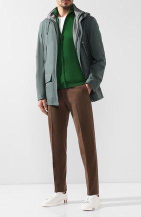 Мужская шерстяной кардиган BRIONI зеленого цвета, арт. UMT20L/0ZK18 | Фото 2