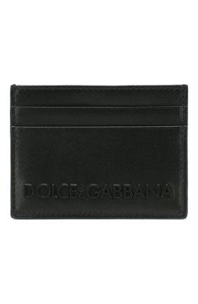 Мужской кожаный футляр для кредитных карт DOLCE & GABBANA черного цвета, арт. BP0330/AZ106 | Фото 1