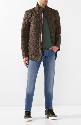 Мужские кожаные кеды tiziano ZEGNA COUTURE темно-зеленого цвета, арт. A4005X-SWY | Фото 2