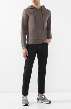 Мужские текстильные кроссовки BOTTEGA VENETA серого цвета, арт. 548353/VBN71 | Фото 2