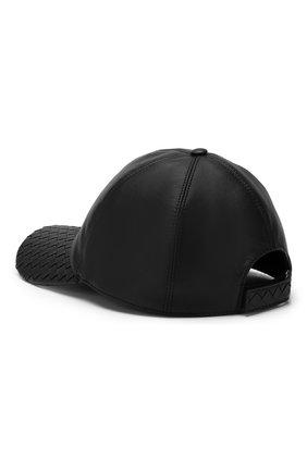 Мужской кожаная бейсболка BOTTEGA VENETA черного цвета, арт. 521538/4V518 | Фото 2