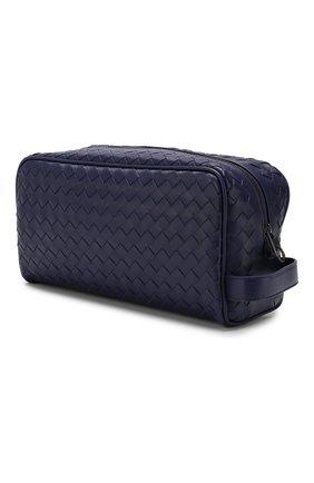 Мужской кожаный несессер BOTTEGA VENETA темно-синего цвета, арт. 244706/V4651 | Фото 2