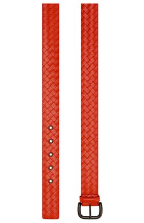 Мужской кожаный ремень BOTTEGA VENETA красного цвета, арт. 173784/V4650 | Фото 2