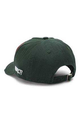 Мужской хлопковая бейсболка DSQUARED2 зеленого цвета, арт. BCM0163 05C00001 | Фото 2