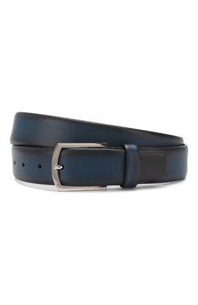 Мужской кожаный ремень BARRETT синего цвета, арт. 31B336.30/C0RSAR0 | Фото 1