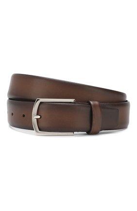 Мужской кожаный ремень BARRETT темно-коричневого цвета, арт. 31B336.34/C0RSAR0 | Фото 1