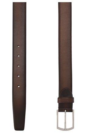 Мужской кожаный ремень BARRETT темно-коричневого цвета, арт. 31B336.34/C0RSAR0 | Фото 2