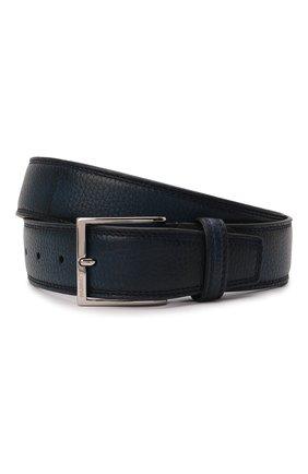 Мужской кожаный ремень BARRETT темно-синего цвета, арт. 81B537.40/CERV0 ASP0RTABILE | Фото 1