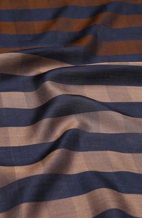 Мужской шарф из смеси вискозы и шелка GIORGIO ARMANI коричневого цвета, арт. 745200/9P100 | Фото 2