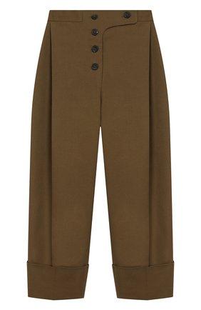 Укороченные брюки из хлопка | Фото №1