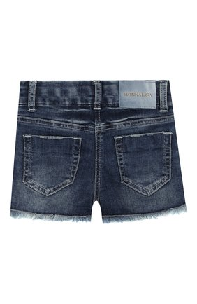 Детские джинсовые шорты MONNALISA синего цвета, арт. 193401R1 | Фото 2