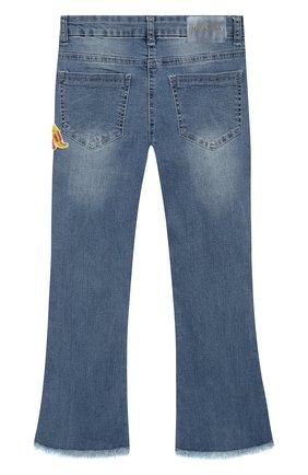 Детские джинсы с вышивкой MONNALISA голубого цвета, арт. 193417RH | Фото 2