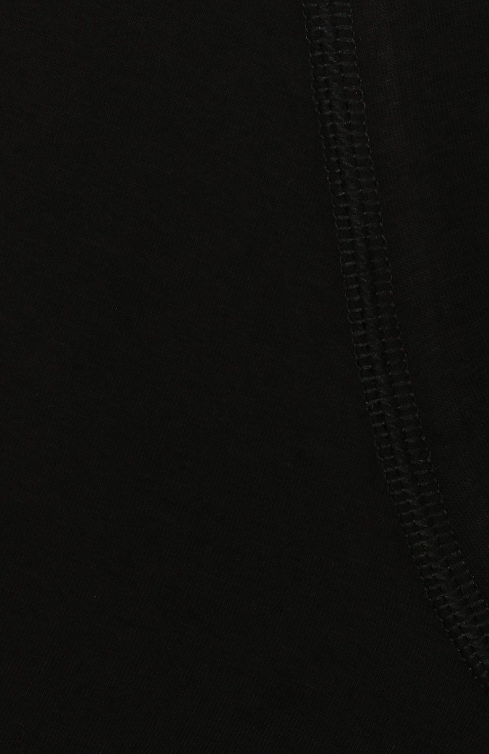 Детские комплект из двух хлопковых боксеров SANETTA черного цвета, арт. 345616 | Фото 3