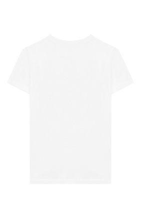 Детская хлопковая футболка BALMAIN серебряного цвета, арт. 6K8521/KX080/4-10 | Фото 2