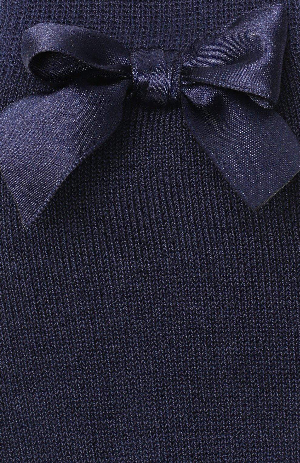 Детские хлопковые гольфы LA PERLA темно-синего цвета, арт. 42452/3-6 | Фото 2 (Материал: Текстиль, Хлопок; Статус проверки: Проверена категория)