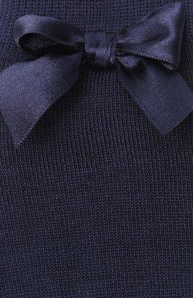 Детские хлопковые гольфы LA PERLA темно-синего цвета, арт. 42452/3-6 | Фото 2