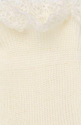 Детские хлопковые носки LA PERLA бежевого цвета, арт. 43455/000-0 | Фото 2