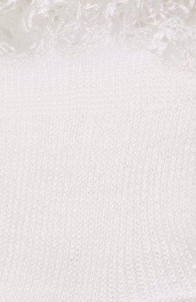 Детские хлопковые носки LA PERLA белого цвета, арт. 43455/000-0 | Фото 2
