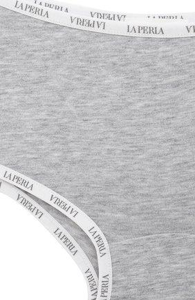 Детские хлопковые трусы LA PERLA серого цвета, арт. 51307/2A-6A | Фото 3