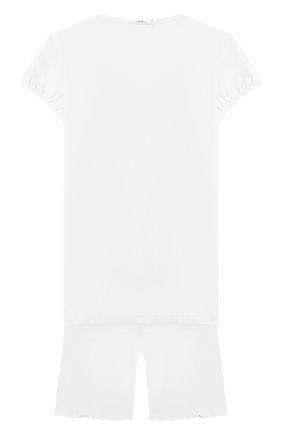 Детская пижама из вискозы LA PERLA белого цвета, арт. 51721/2A-6A | Фото 2