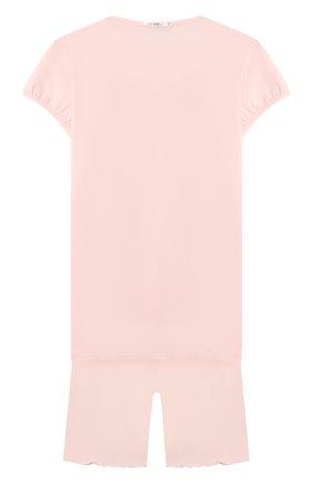 Детская пижама из вискозы LA PERLA розового цвета, арт. 51721/2A-6A | Фото 2