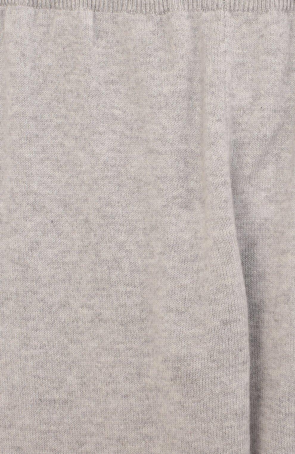 Детские кашемировые брюки Giorgetti Cashmere светло-серого цвета   Фото №3