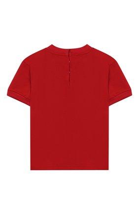 Детский хлопковая футболка DOLCE & GABBANA красного цвета, арт. L2JTBP/G7RZZ | Фото 2