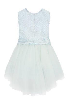 Детское платье с поясом DESIGNERS CAT голубого цвета, арт. 0100KK0KI00015/4A-8A | Фото 2