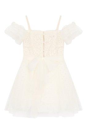 Детское платье на тонких бретельках DESIGNERS CAT бежевого цвета, арт. 100000K01000139/4A-8A | Фото 2