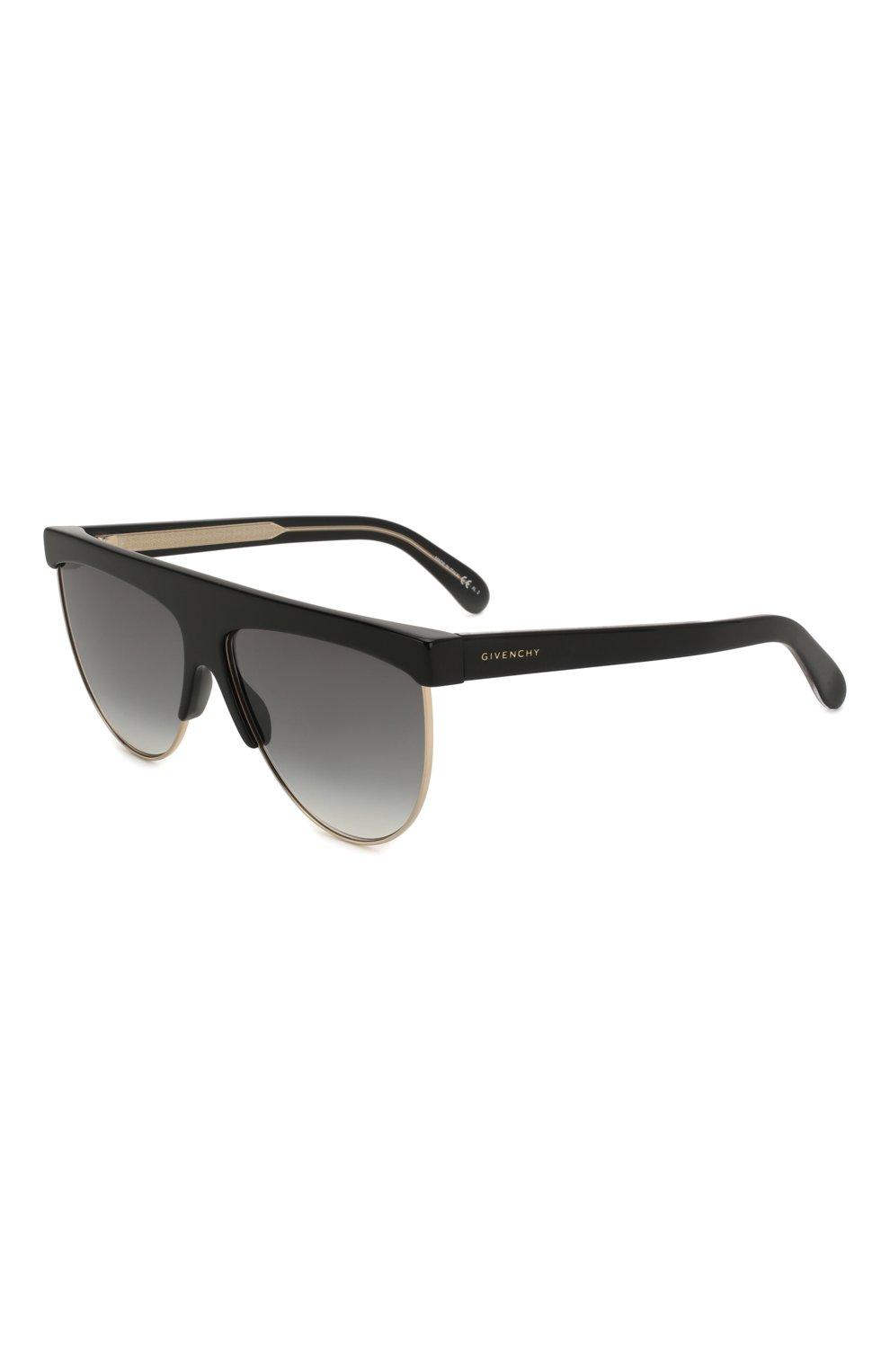 Женские солнцезащитные очки GIVENCHY черного цвета, арт. 7118/G J5G | Фото 1