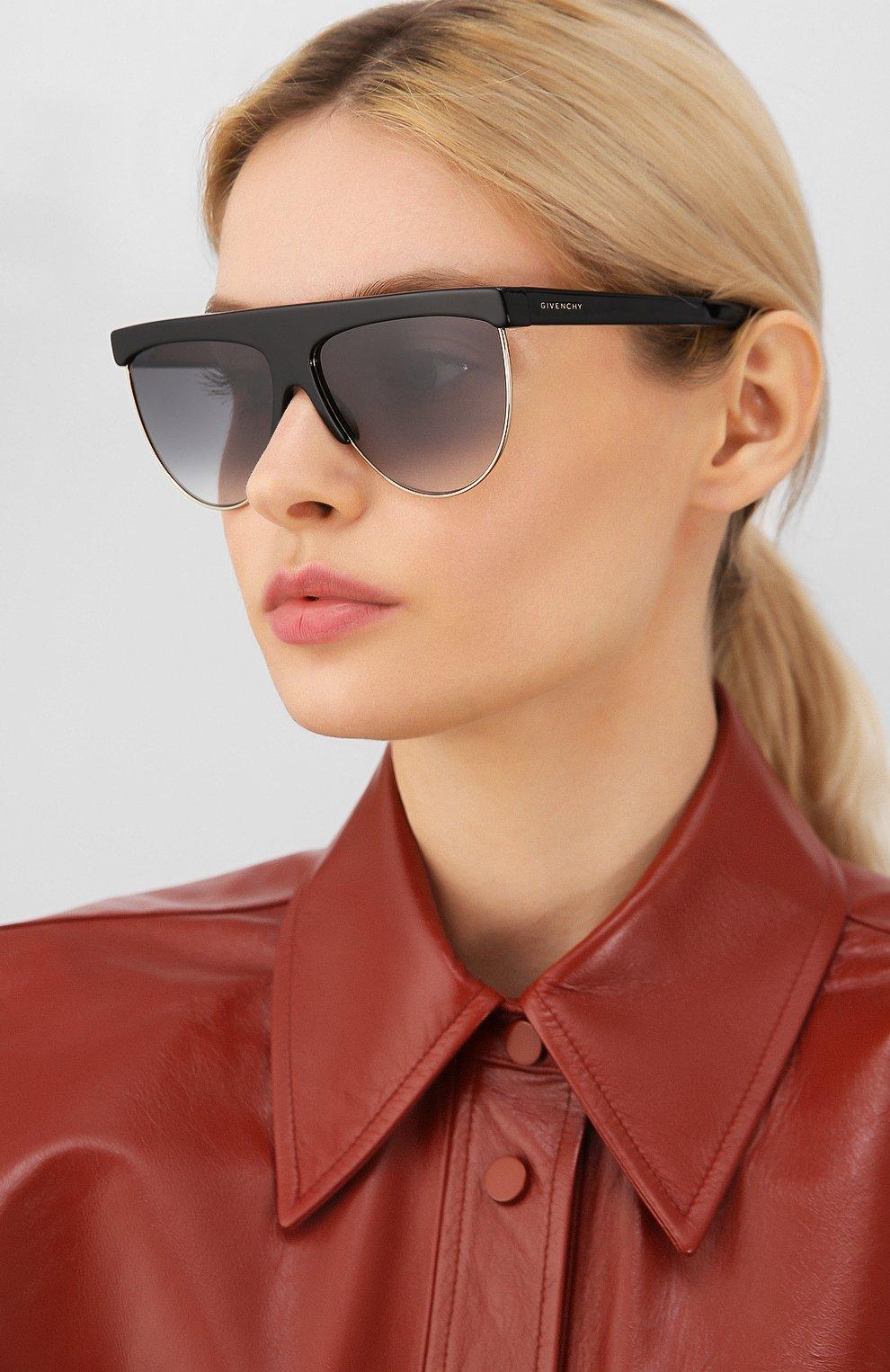 Женские солнцезащитные очки GIVENCHY черного цвета, арт. 7118/G J5G | Фото 2