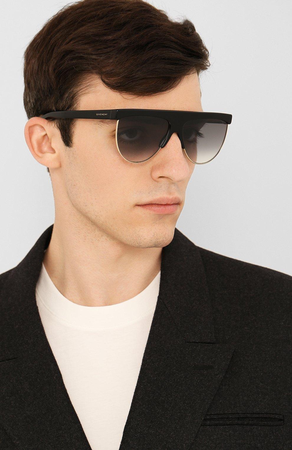 Женские солнцезащитные очки GIVENCHY черного цвета, арт. 7118/G J5G | Фото 3