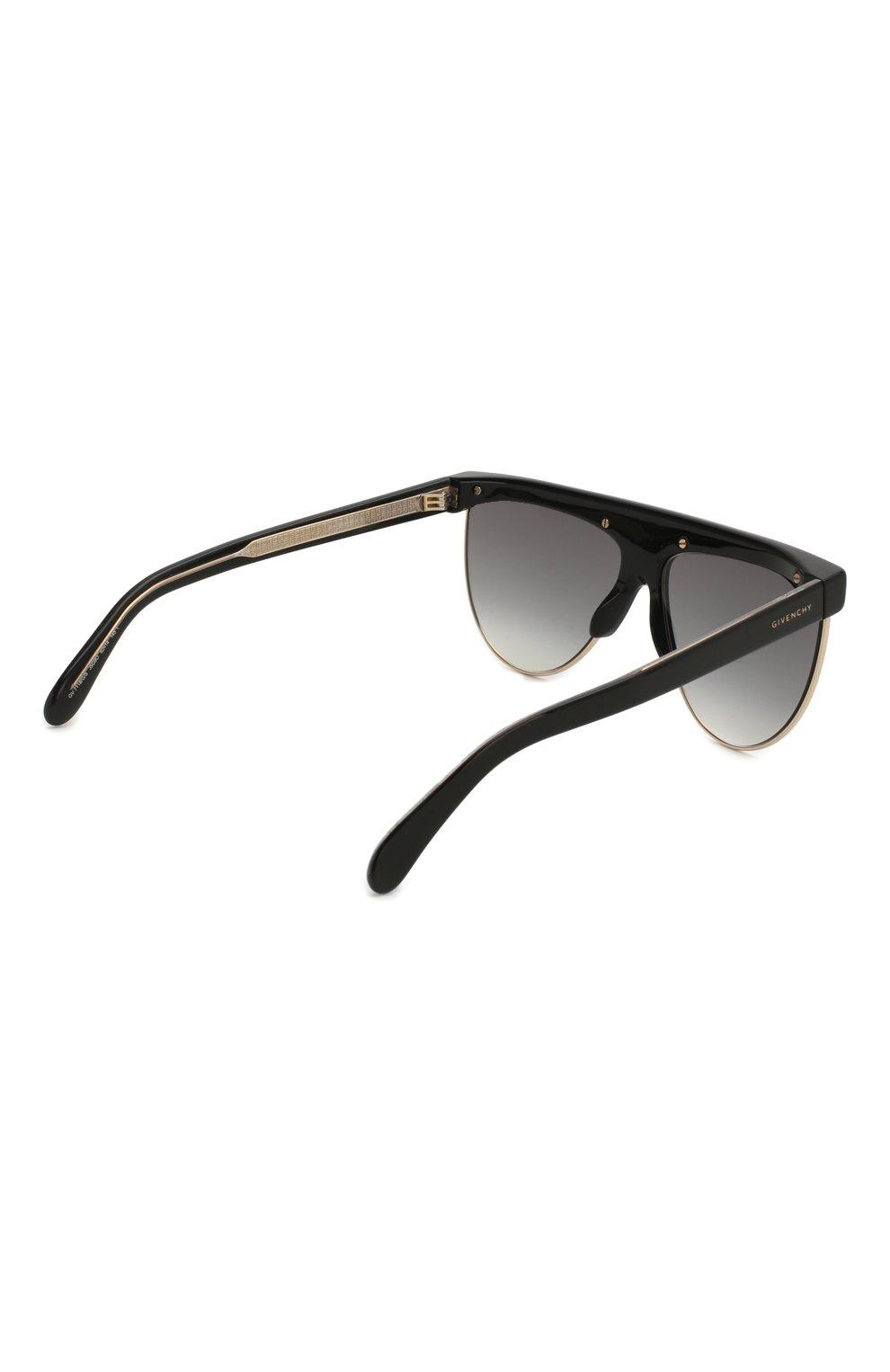 Женские солнцезащитные очки GIVENCHY черного цвета, арт. 7118/G J5G | Фото 5