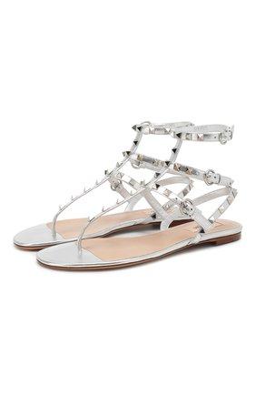 Кожаные сандалии Valentino Garavani Rockstud | Фото №1